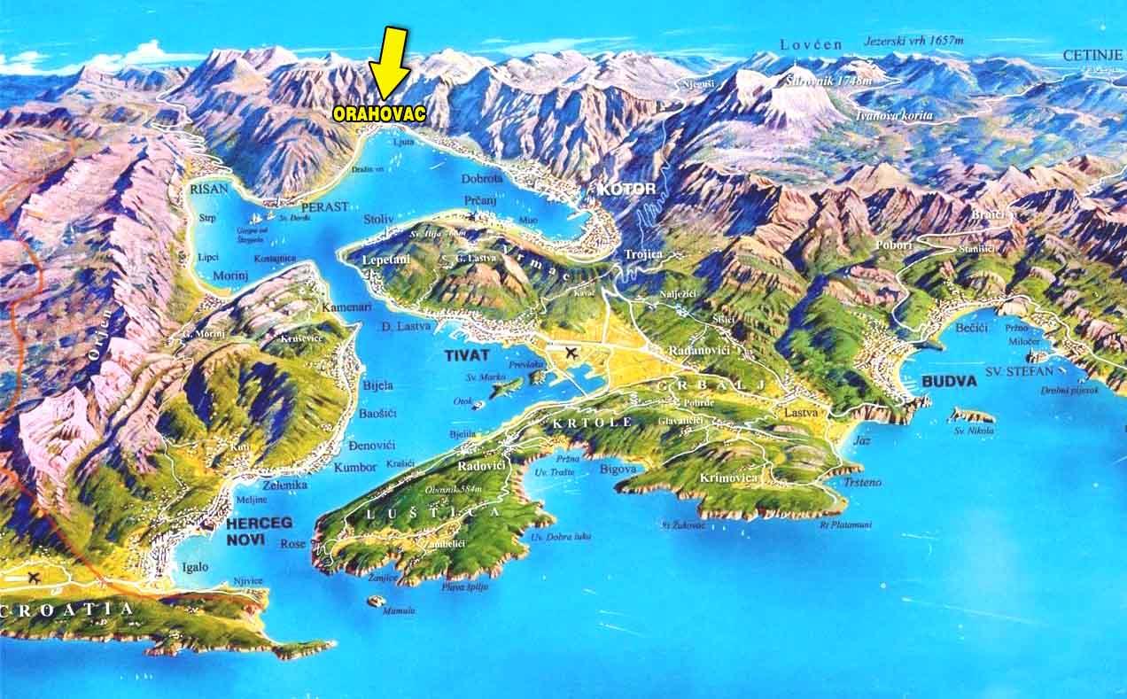 orahovac crna gora mapa APARTMANI RADOJKOVIC, CRNA GORA, MONTENEGRO   Letovanje u vili na  orahovac crna gora mapa
