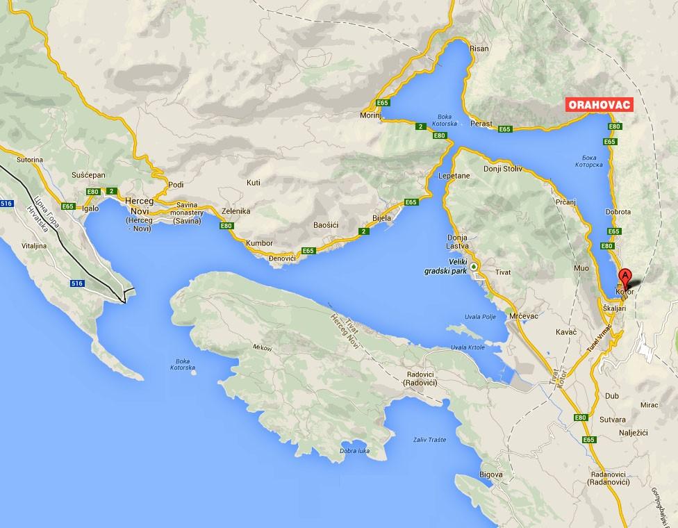 crna gora boka kotorska mapa APARTMANI RADOJKOVIC, CRNA GORA, MONTENEGRO   Letovanje u vili na  crna gora boka kotorska mapa